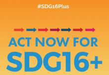 cover act now for SDG16+